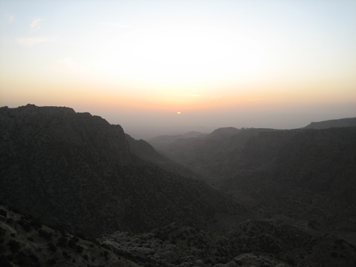 Sunset in Wadi Dana